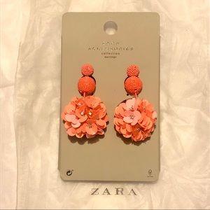 NWT Zara beaded floral earrings